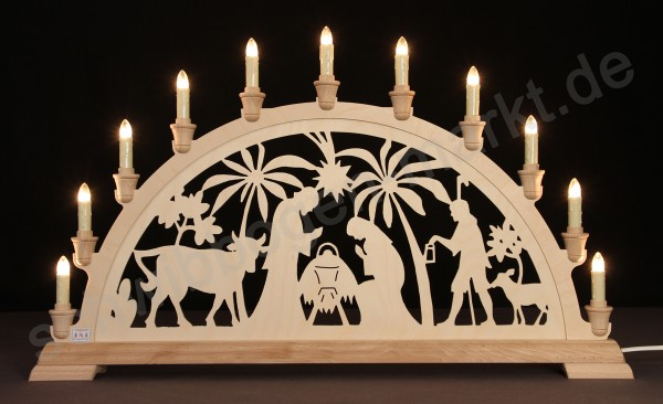 Christi Geburt mit Palmen 67 x 40 cm