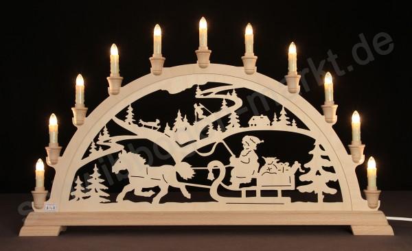 Weihnachtsmann mit Schlitten 67 x 40 cm