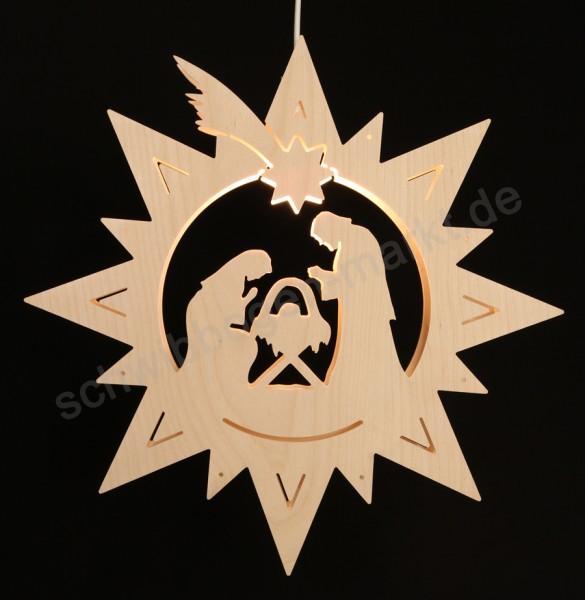 Christi Geburt im Stern 36 x 36 cm