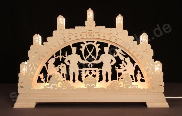 Erzgebirge 3D mit indirekter Beleuchtung 51 x 32 cm